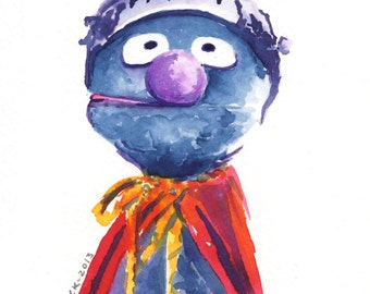 Super Grover (5x7 print)