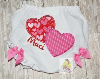 Valentine baby bloomers - diaper cover