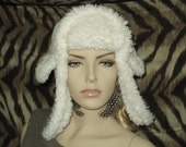 Half price! Sherpa ear flap trapper hat, winter white, one size fits most. 21 inches