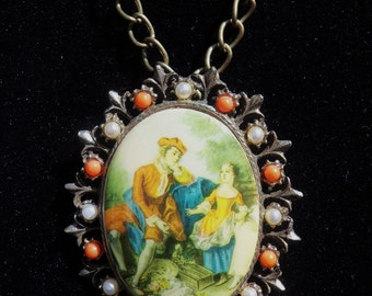 Necklace with Brooch Pendant
