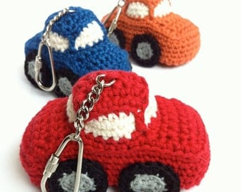 Car Key Fob / Car Key Chain / Car Bag Charm / Eco-friendly Gift / Eco-friendly Key Fob / Eco-friendly Bag Charm