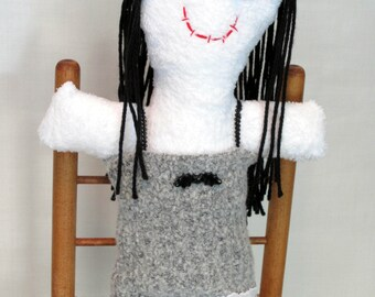 Plush Halloween Gothic Ghost Girl Rag Doll or Decoration