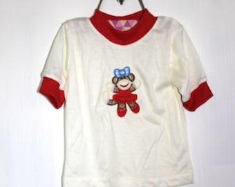 Vintage MONKEY GIRL Shirt Handmade (Size 2)