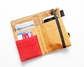 Waterproof iphone wallet orange wristlet cell phone wallet circles pretty silk wallet ipod case tech wallet iphone 5 case small purse woman