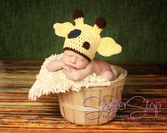 Giraffe Hat, Crochet Giraffe Hat, Animal Hat