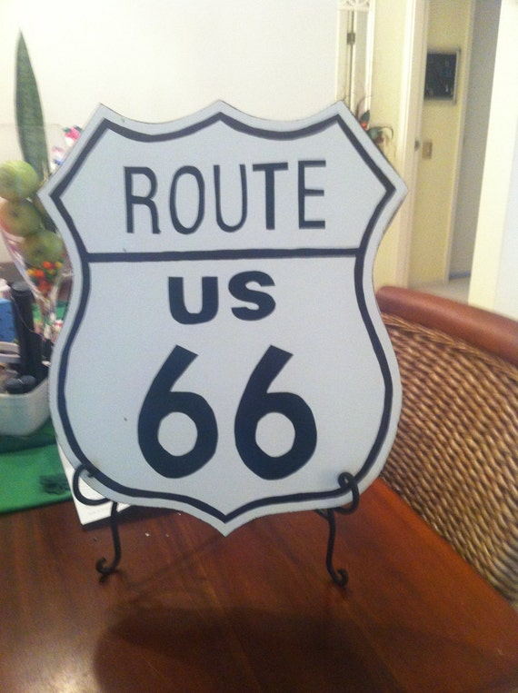 Items Similar To Route Us 66 Road Sign Home Decor Made