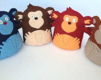 Cheeky Monkey Plush Wool Felt