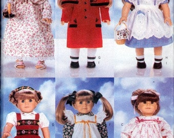 Doll Clothes Patterns for 18 inch Girl Doll  - Butterick 4699 - Six Outfits and Accessories - New Unused Paper Patterns