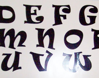 """3 1/2"""" Vinyl Letter Decals, All 26 letters or 26 of one letter"""