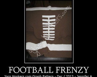 Football Frenzy - Afghan Crochet Graph Pattern Chart - Instant Download
