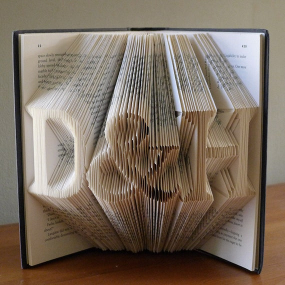 ... Paper Anniversary Folded Book Art Gift - Gift for Him - Gift for Her