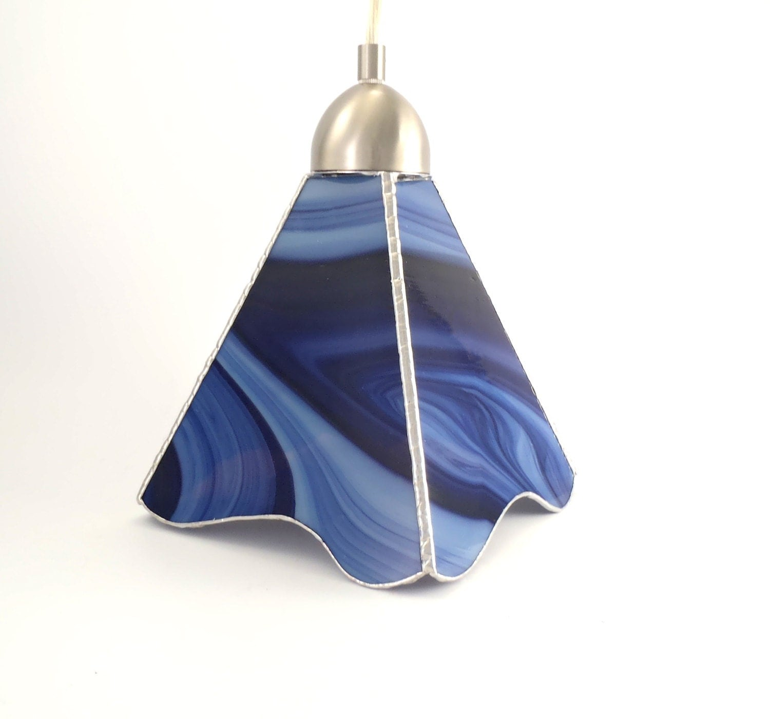 Abstract Stained Glass Pendant Light Kitchen By Nostalgianmore