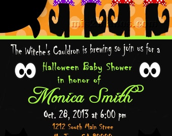 Halloween Baby Shower Invitation Pumpkin Baby Shower Invites  Mom-to-Be Party Invitations Printable DIY