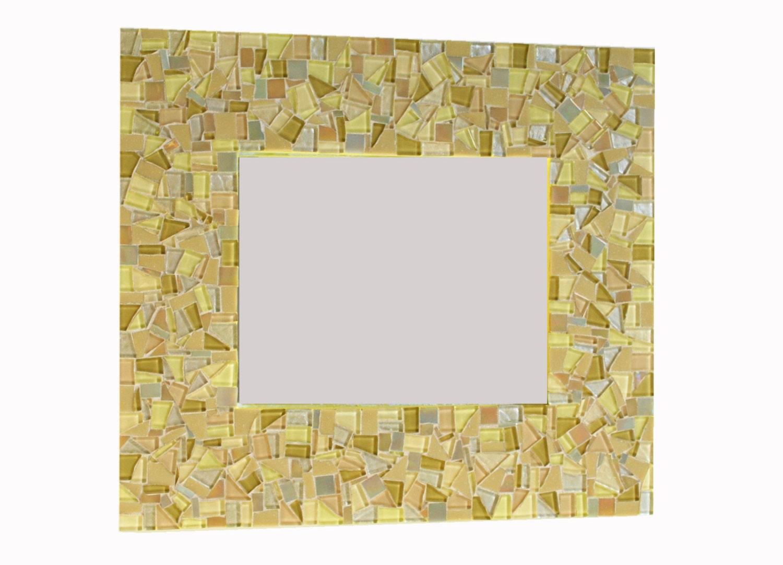 Yellow And Gold Mosaic Mirror Wall Art