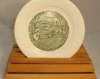 """Vintage Homer Laughlin """"Pastoral"""" Salad/Dessert Plate"""