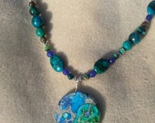 Sea Sediment Jasper Yin Yang Necklace