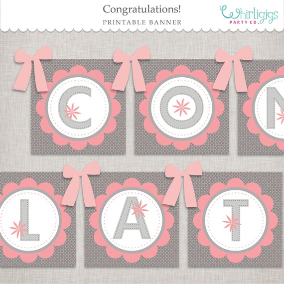 Candid image throughout congratulations banner printable