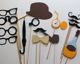 Photobooth Props - Perfect Gentleman's Collection