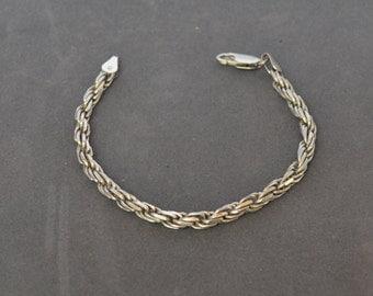 Vintage STERLING SILVER  Bracelet Signed Italy 11 grams