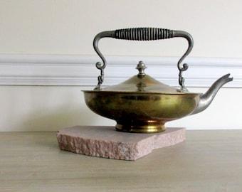 Brass and Steel Tea Kettle