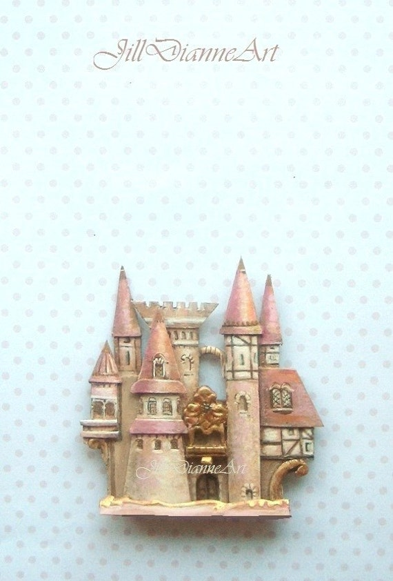 Cinderella pink tudor castle mural wall art or headboard or for Cinderella castle mural