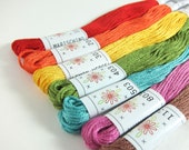 Embroidery Floss Set - 7 Skeins - Sublime Fruit Salad Palette