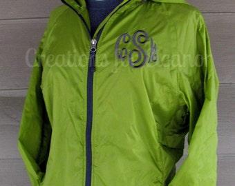 Womens Monogram Windbreaker, Personalized Women's Coat, Monogrammed Coat, Monogrammed Windbreaker, Monogram Jacket