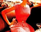 Vintage 1950s Vogue Lace Cocktail Dress 157   PDF Digital Knit Pattern