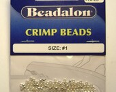 Crimp Beads Silver Plated Size #1 - 1.5 grams/pack