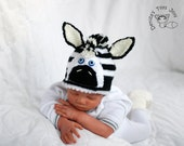 New Born Baby Zebra Hat Knitting Pattern. Newborn Knit Pattern, Newborn Knitting Pattern, Photo Prop Pattern, Newborn Prop Pattern