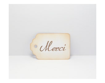 Tags, Thank You Gift Tags, Merci Gift Tags, Gift Tags, Thank You Tags, Merci Tags, Rustic Gift Tags, Shabby Tags, Distressed Tags
