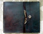 ENGRAVING Option - Engraved Lettering for Zenfish Leather Sketchbooks (must be purchased with a sketchbook or journal)