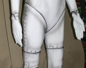 Ball joint riveted robot body suit made to order