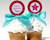AMERICAN GIRL Birthday Cupcake Toppers Printable