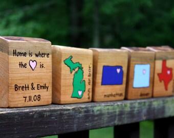 State Art- Any City and State - Rustic Wood Custom Nursery art - Personalized Housewarming Gift - Stocking Stuffers