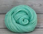 Celeste - Hand Dyed Superwash Merino Fingering Sock Yarn - Colorway: Glacier