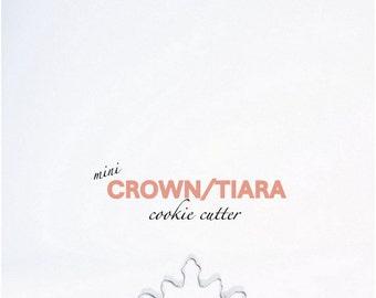 Mini Crown Tiara Cookie Cutter - Princess - Parties - Birthday - Custom Cookies - Cutters - Cinderella