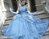 Cinderella Adult Cosplay Costume Ball Gown Dress Cosplay