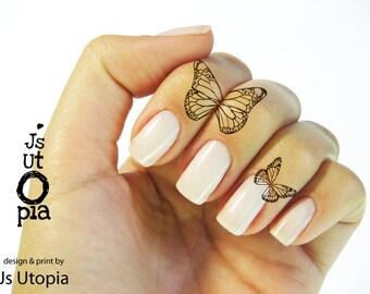 Butterfly Water Transfer Finger Tattoo