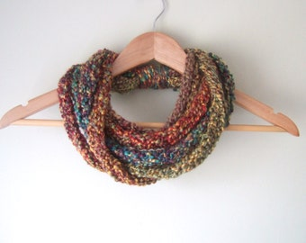 Woodland Scarf Necklace .. Multicolor Scarf Necklace .. Indie Clothes .. Crochet Lariat.. Chain Cowl .. DottieQ Scarf .. Cute Scarves
