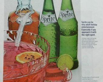 Vintage Sprite Ad - Kitchen wall art