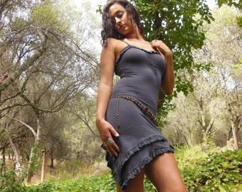 Pixie Dress ~ Deep grey ~ Size small