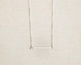 Silver Horizontal Bar Necklace