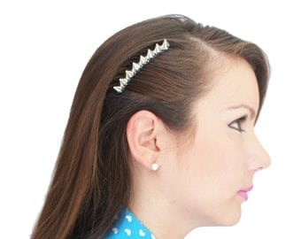 Silver Spikes Hair Comb