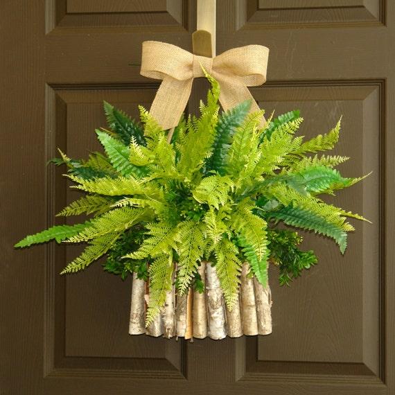 Front Door Decorations For Summer: Spring Wreaths Summer Wreath For Door Green Boston By