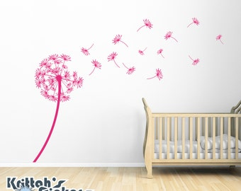 Dandelion Blowing in the Wind Vinyl Wall Decal K434