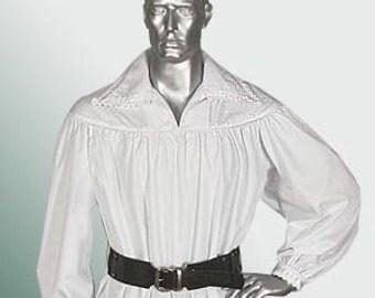 Renaissance Pirate Shirt Poet Musketeer Men Shirt Baroque Theater Medieval Costume Handmade