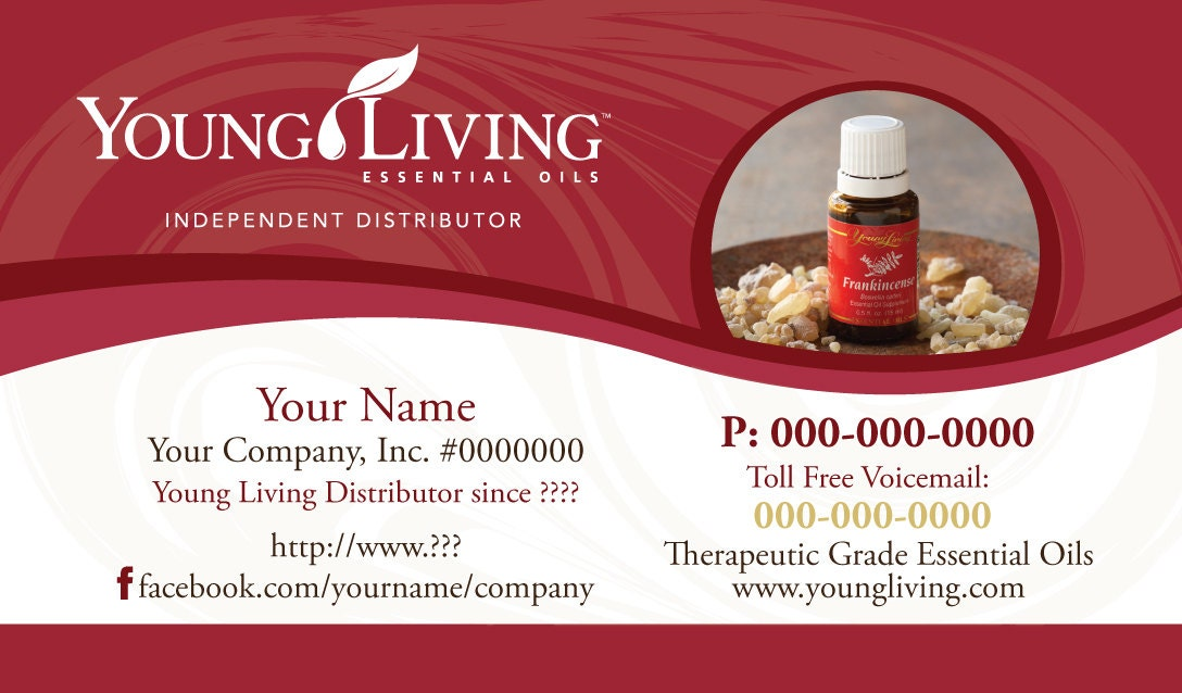 Premade Young Living Business Card Design by YLEssentials