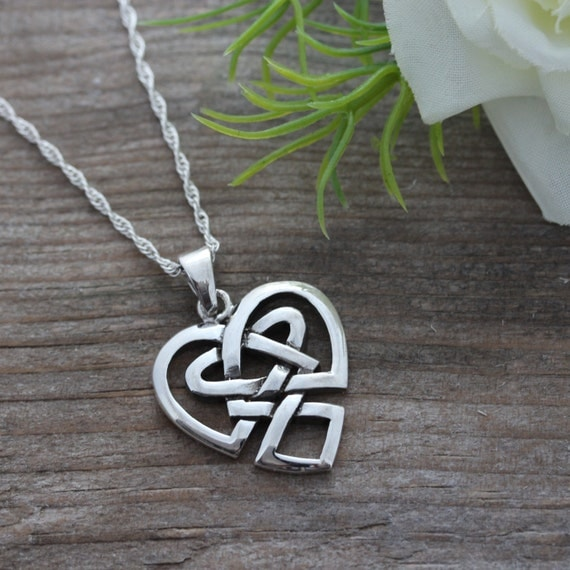 Irish Jewelry Sterling Silver Celtic Heart Anniversary