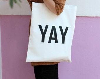 YAY cotton tote bag